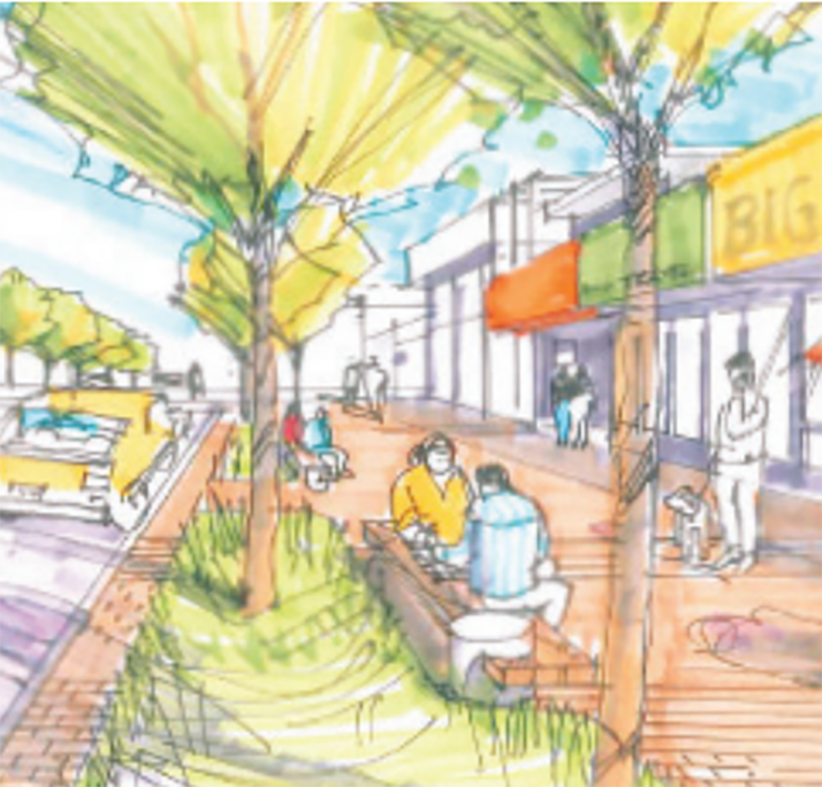Johnston Road Revitalization Rendering