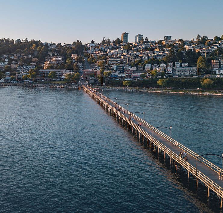 Waterfront of White Rock from the Air - Jeff Browne Photography