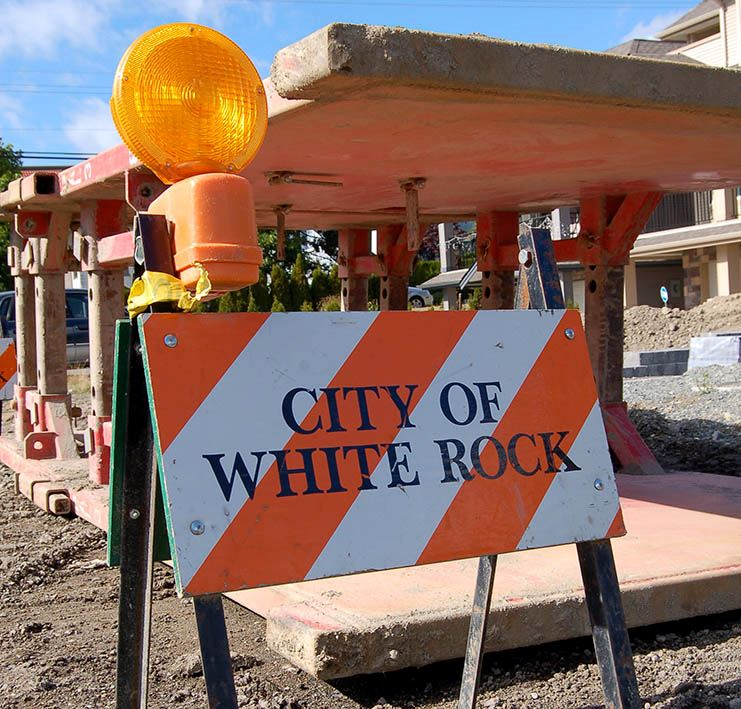 City of White Rock Construction Sign