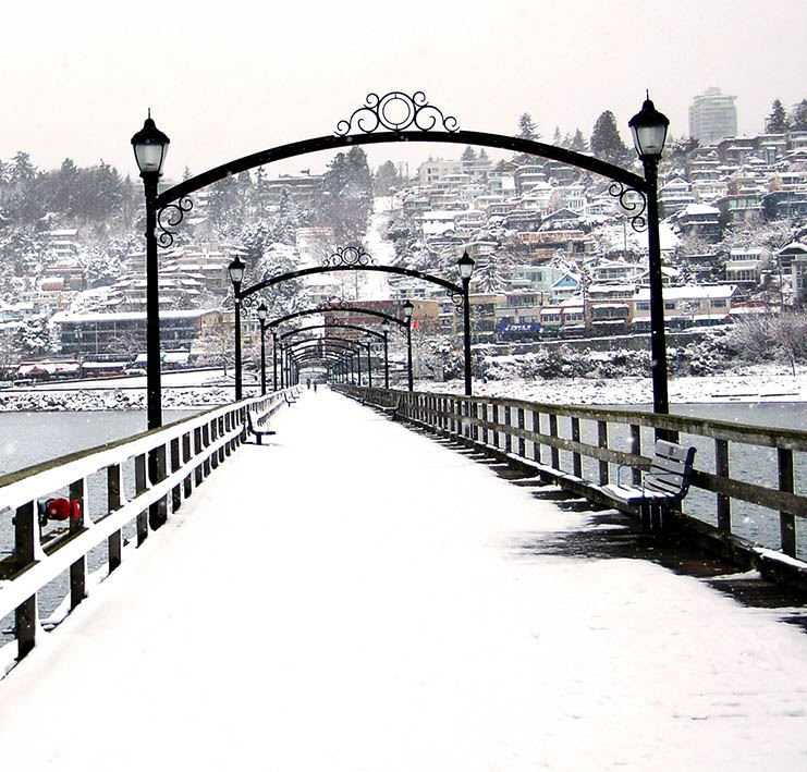 Pier in the Winter