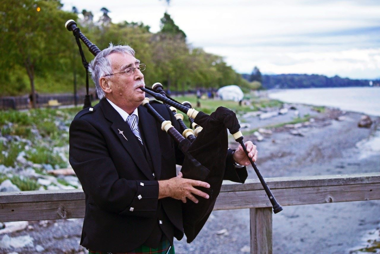 Bagpiper at White Rock Pier - Photo by: Scott Stone