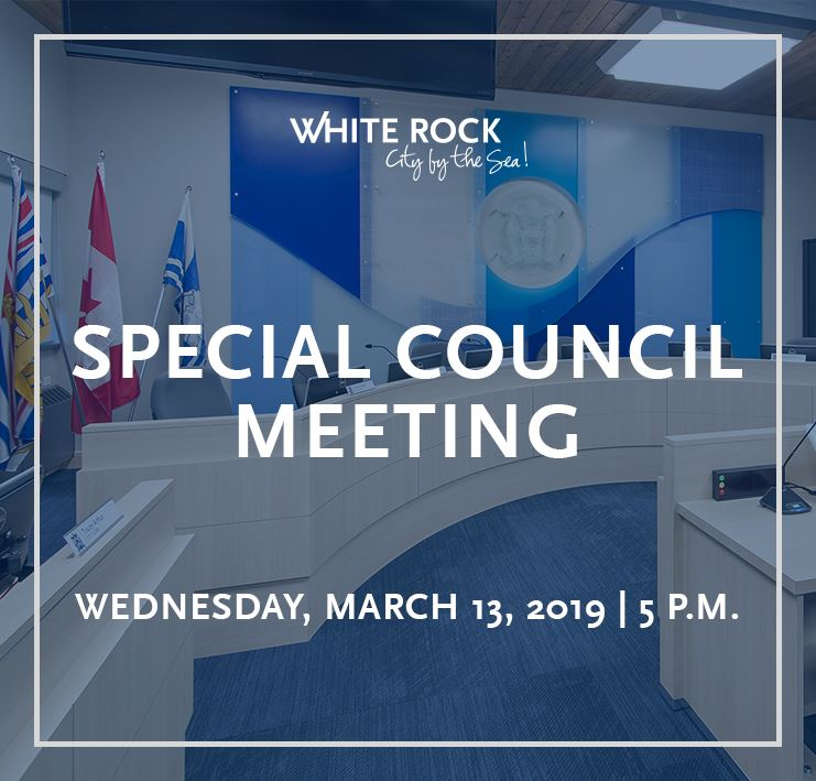 Special Council Meeting for March 13, 2019 at 5:00 P.M.