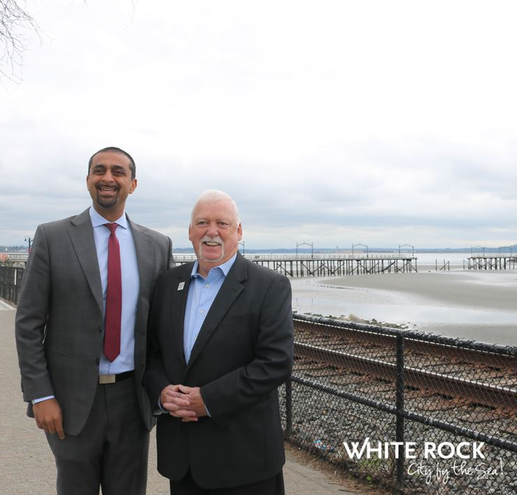 MLA Ravi Khalon and Mayor Darryl Walker