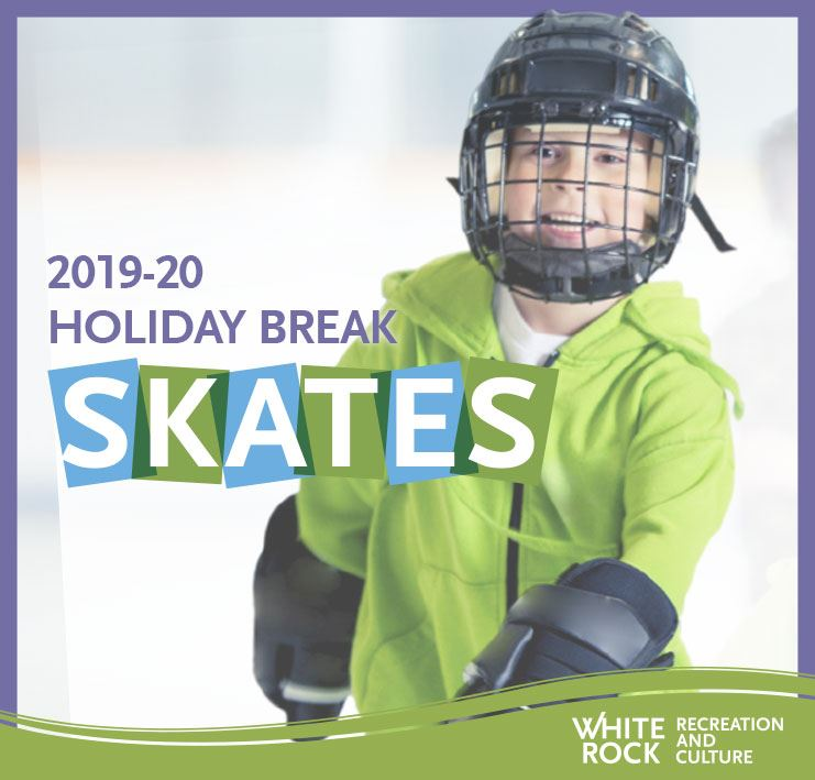 2019-20 Holiday Break Skates - Boy skating wtih helmet and gloves