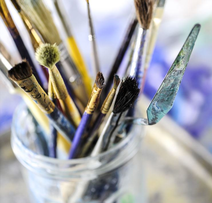 paint brushes and tools - civic grant applications