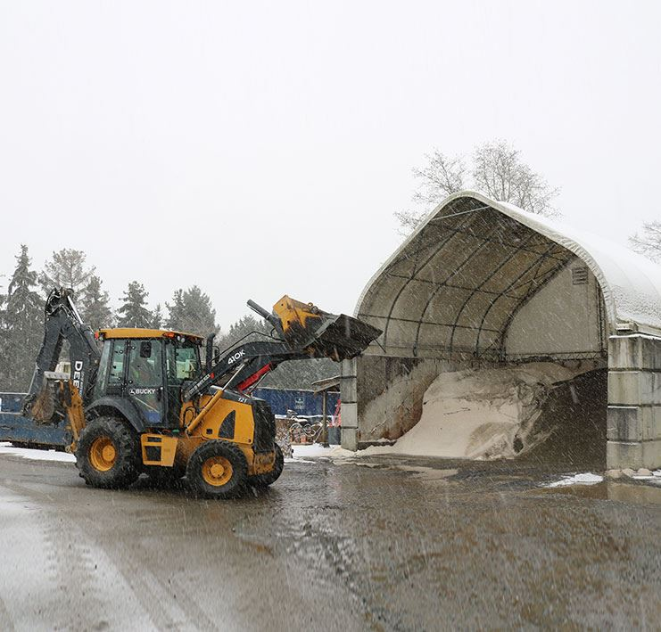 Snow Salt Dome at the City of White Rock Public Works Yard.