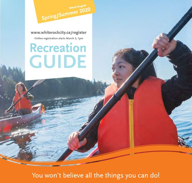2020 Spring/Summer Recreation Guide - girl in a kayak