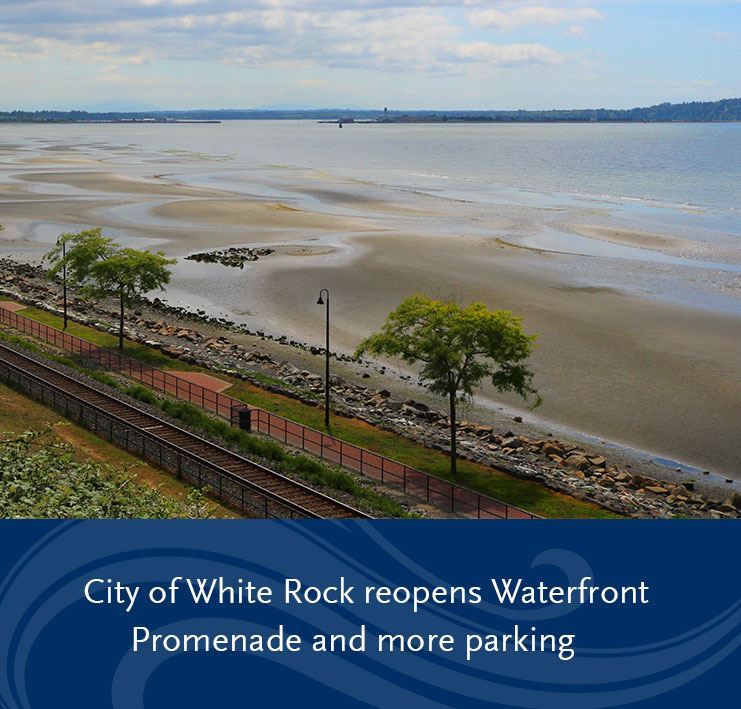 waterfront promenade and beach waterfront at White Rock, BC