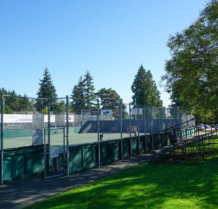 Lacrosse facility at Centennial Park in White Rock, B.C.