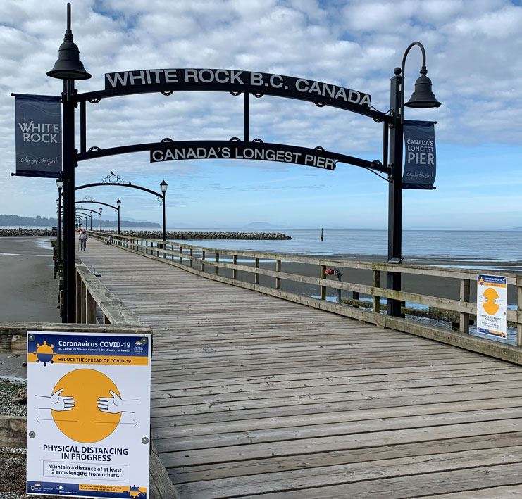 White Rock Pier reopening after COVID-19.
