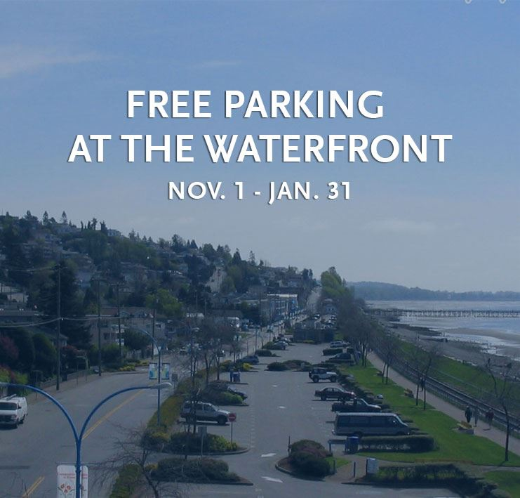 Free Parking at the White Rock Waterfront Nov. 1 - Jan. 31
