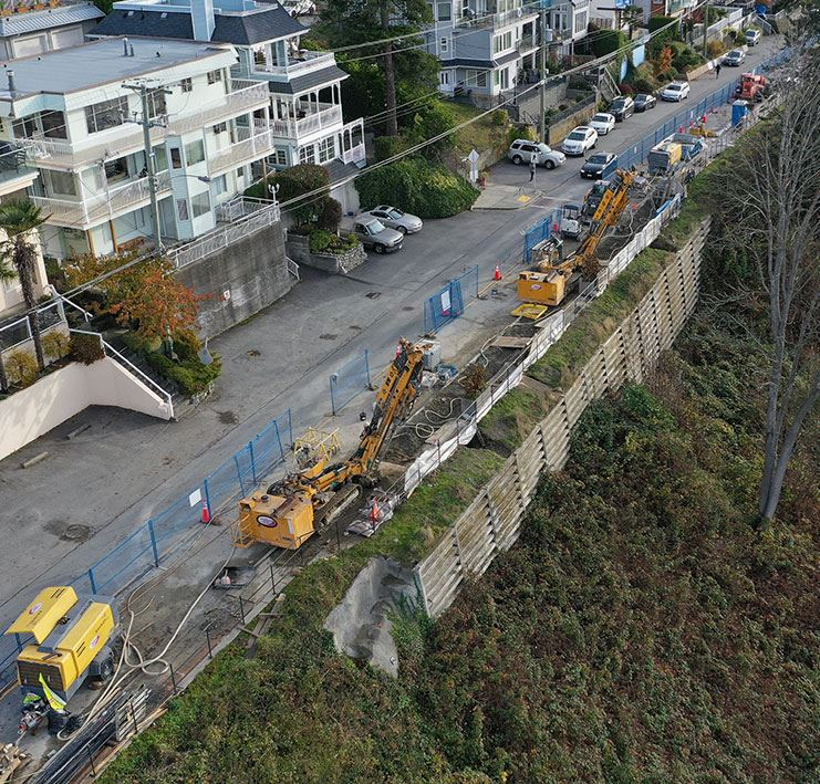 Marine Drive Retaining Wall Stabilization Project - White Rock Waterfront