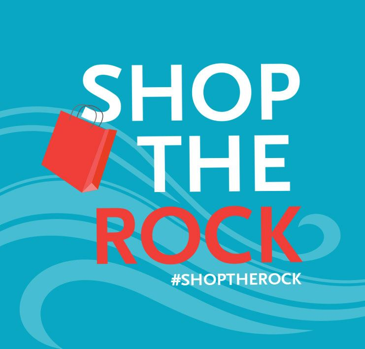 Shop the Rock with shopping bag