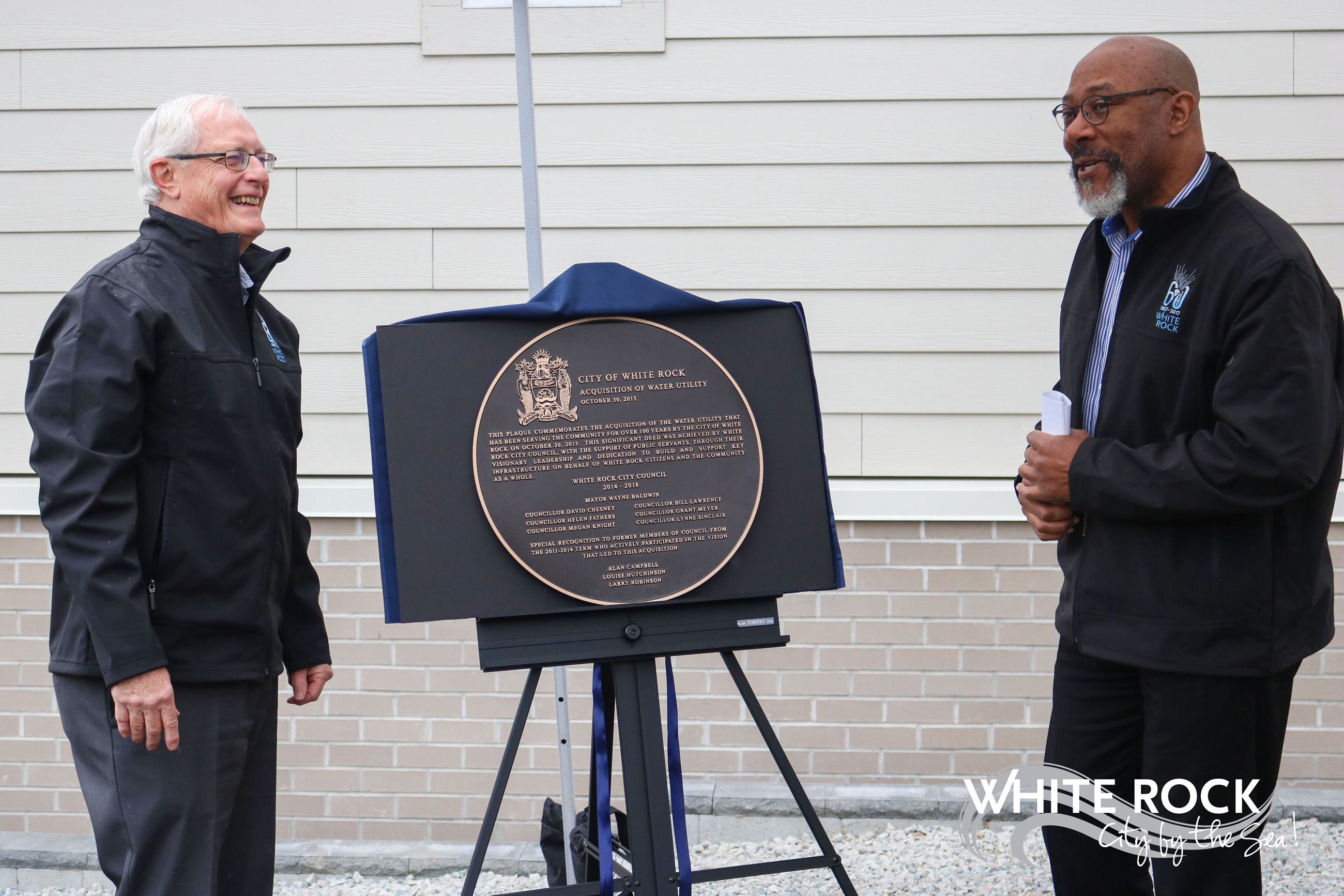 Council Unveiling Plaques at the Merklin Pumping Station