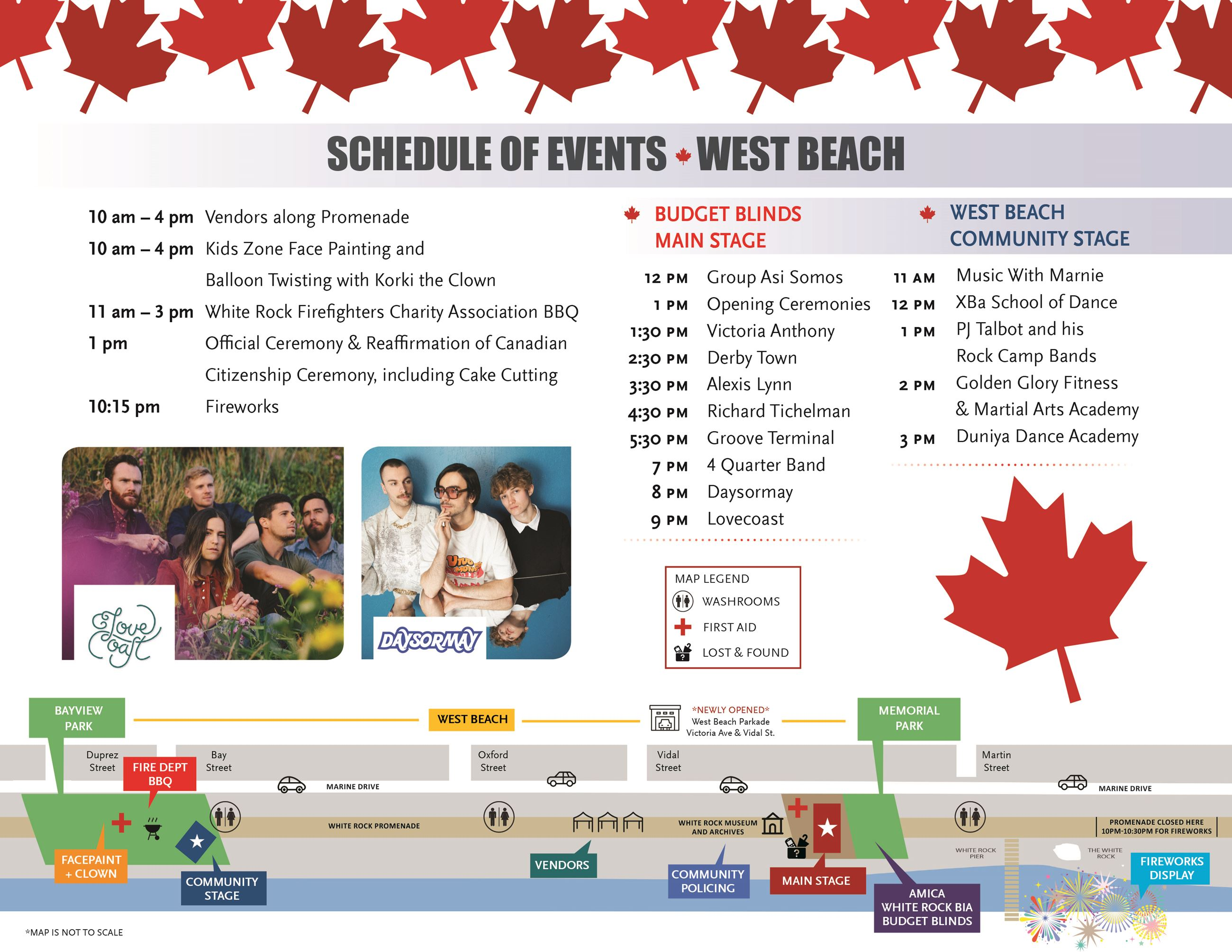 Canada Day Program Schedule